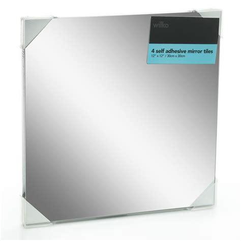 wilko mirror tiles self adhesive 30cmx30cm x 4 home