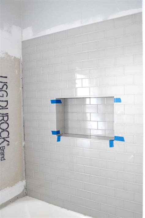 adding a shower niche home with keki