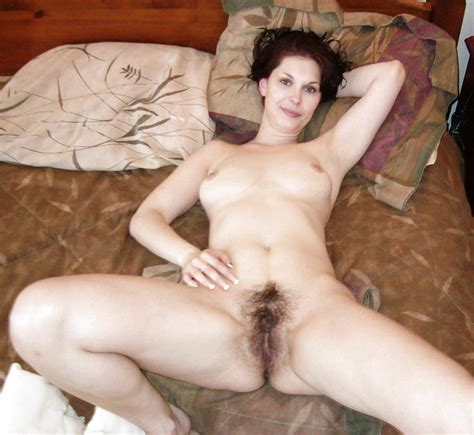 Showing Off On The Bed Hairy Pussy Tag Brunette