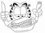 Lasagna Garfield Coloring Desene Colorat Drawing Template Copii Sketch sketch template