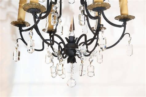 small six light wrought iron and chandelier for