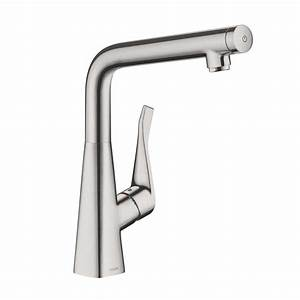 Hansgrohe Metris Select : hansgrohe metris select single lever kitchen mixer 320 stainless steel look 14883800 reuter shop ~ Eleganceandgraceweddings.com Haus und Dekorationen