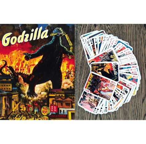 godzilla playing cards poker deck  cards