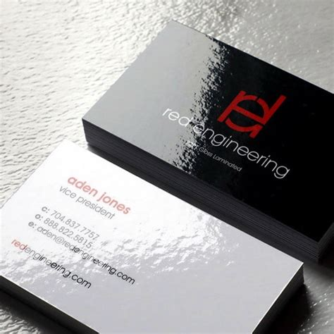 laminated business cards pt thick glossy cards