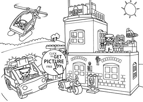 Lego Police Coloring Page For Kids, Printable Free. Lego Duplo