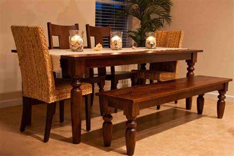 kitchen table  bench  chairs decor ideasdecor ideas