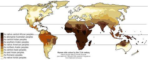 skin color map modern averaged skin color map worldwide 1527 x 625