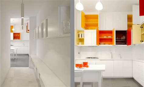 Painting Inside Kitchen Cupboards by Paint Bright Colors Inside Your White Kitchen Cabinets