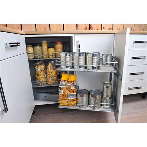 meuble de cuisine rangement rangement d 39 angle 4 paniers tirant gauche pour meuble d