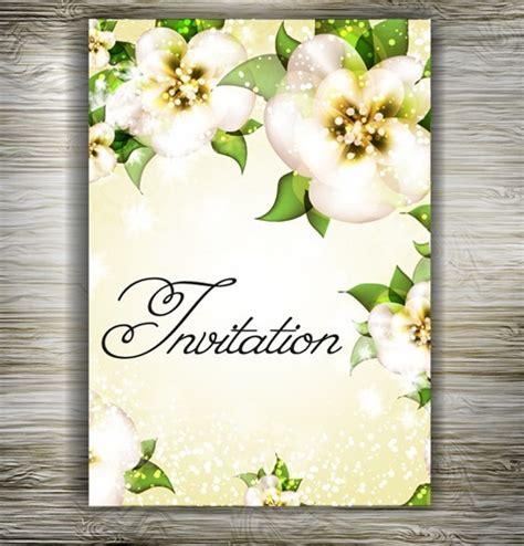 beautiful floral wedding invitation card design