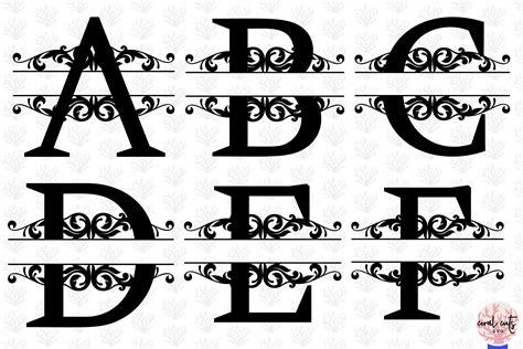 split letters monogram    svg eps dxf png file