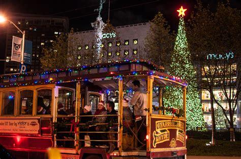 christmas decorations union square san francisco wishing