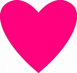 Hot Pink Heart Clip Art at Clker.com - vector clip art ...