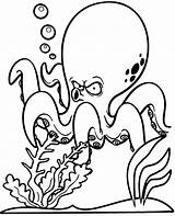 Coloring Octopus Pages Funny Sheet Printable Topcoloringpages Water Children Fun sketch template