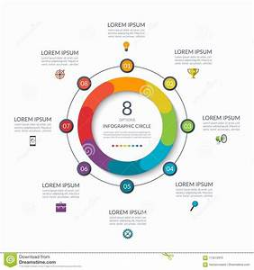 Infographic Circle  8 Options  Steps  Parts  Business