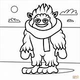 Coloring Yeti Popular Printable Christmas sketch template
