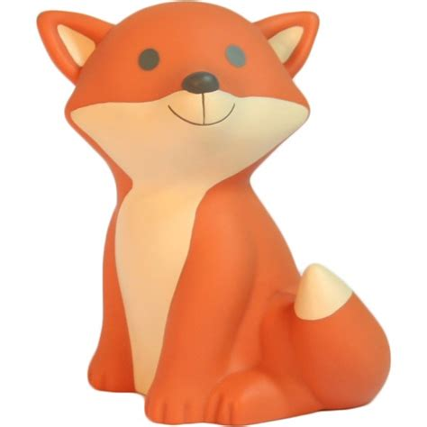 decoration chambre petit garcon veilleuse renard orange avec led et piles