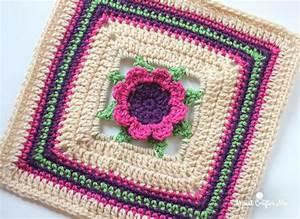 3D Crochet Flower Granny Square ...