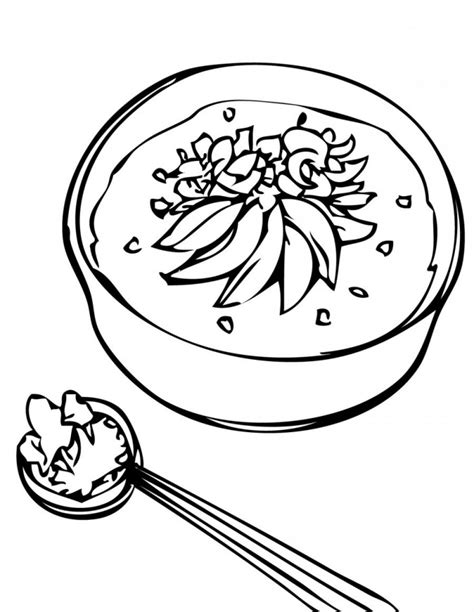 Kleurplaat Kom Soep by Soup Coloring Pages Az Coloring Pages