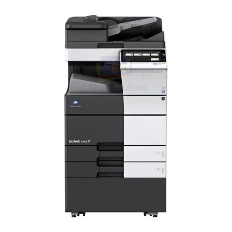 Konica minolta is committed to environmental preservation and we are working to reduce any environmental impact from our products throughout their entire life cycle. Konica Minolta Bizhub C458 A3 Color Laser Multifunction ...