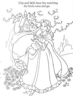 bell disney coloring pages