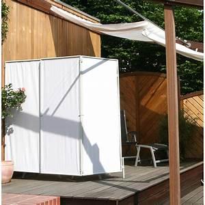 Paravent 2m Hoch : floracord paravent sicht und windschutz hell elfenbein 210 cm x 170 cm kaufen bei obi ~ Indierocktalk.com Haus und Dekorationen