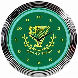 Irish Erin Go Bragh Neon Wall Clock TP Tools & Equipment