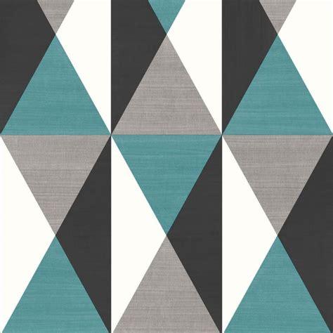 papier peint g 233 om 233 trique triangles bleu et gris