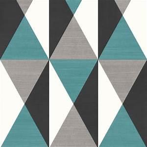 Papier Peint Bleu Foncé : papier peint g om trique triangles bleu et gris graphique ugepa ~ Melissatoandfro.com Idées de Décoration