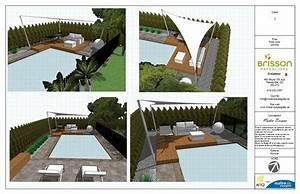 design 3d plan d39amenagement exterieur 3d cour arriere With awesome mobilier de piscine design 8 nos realisations de jardin et amenagement dexterieur en