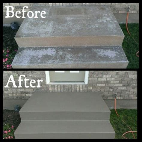 Front stairs needed to be redone! Valspar cement/porch