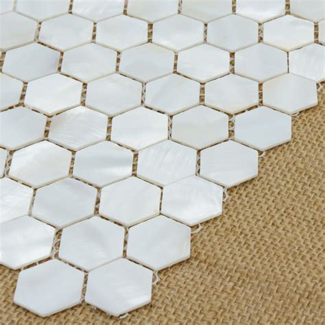 river bed nature pearl shell mosaic 12 quot x 12 quot white