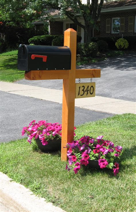 woodworking plans wood mailbox post designs  plans