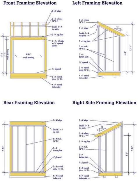 lean to shed plans lean to shed plans free diy blueprints for a lean to shed