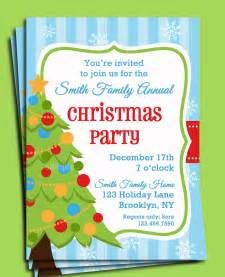 Christmas Party Invitation Free Templates