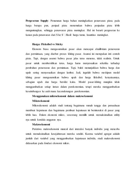 Contoh Resume Ekonomi Makro - Contoh L