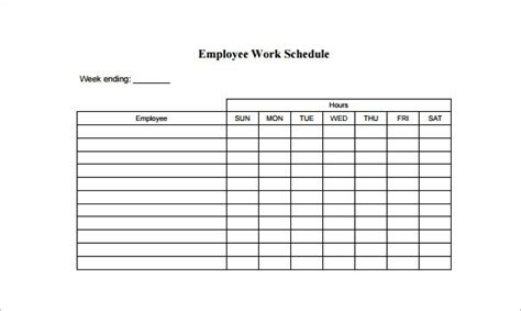 employee schedule template charlotte clergy coalition