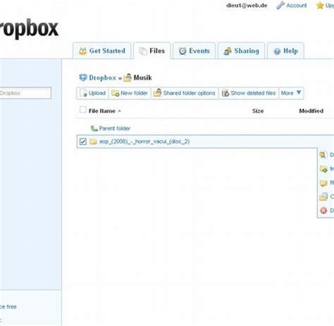 dropbox ordner herunterladen