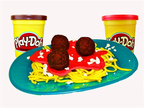 play doh cuisine play doh spaghetti play dough food meatballs and clay spaghetti diy tutorial