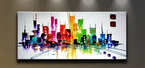 wieco art cityspace large color city  hand painted