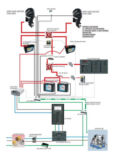 marine electrical wiring diagram wiring diagram with negative ground buss opinions the hull truth boating