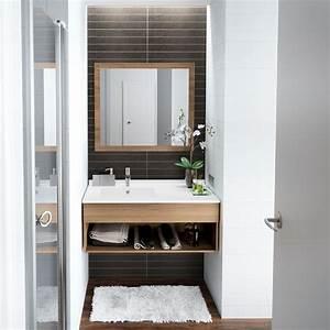10 astuces pour amenager une petite salle de bains With salle de bain design avec petit lavabo salle de bain