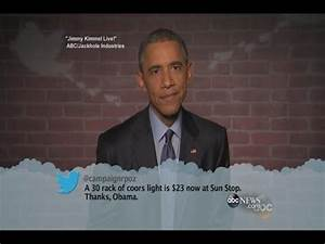 "Mean Tweets: President Obama on ""Jimmy Kimmel Live!"" - YouTube"