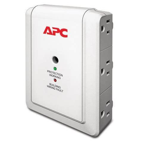 surge protector apc outlet wall surgearrest essential protectors p6w joules 1080