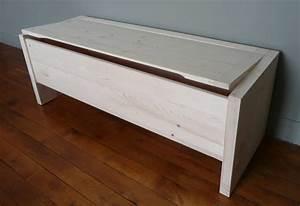 Banc Coffre Bois : coffre de rangement en bois brut banc coffre aubry gaspard ~ Teatrodelosmanantiales.com Idées de Décoration