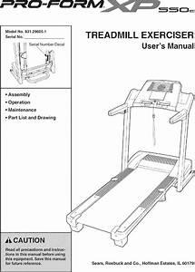 Proform 831296051 User Manual Xp 550e Manuals And Guides L0610168