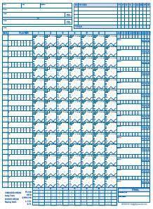 favorite  league baseball score sheet