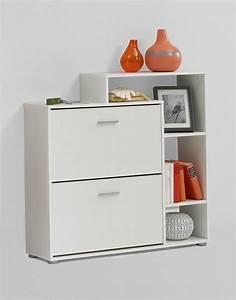 Meuble Entree Blanc : meuble d 39 entr e avec rangement chaussures blanc ~ Teatrodelosmanantiales.com Idées de Décoration