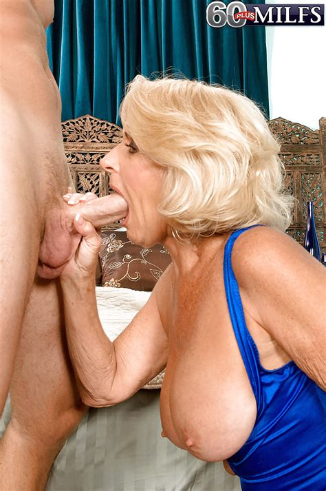 Granny With Blond Hair Sucks Balls And Licks A Huge Cock