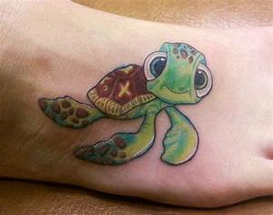 80 Simple and Small Sea Turtle Tattoos Design with Meanings